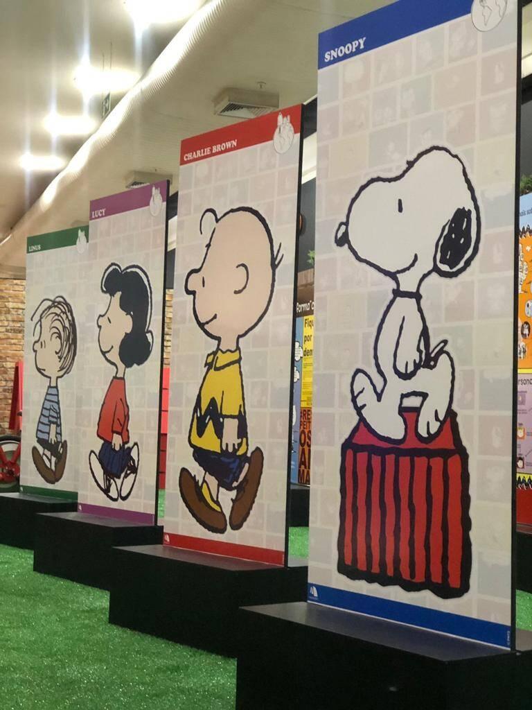 """Exposição """"Turma de Snoopy"""" relembra história do personagem e sua turma. Foto: Divulgação"""