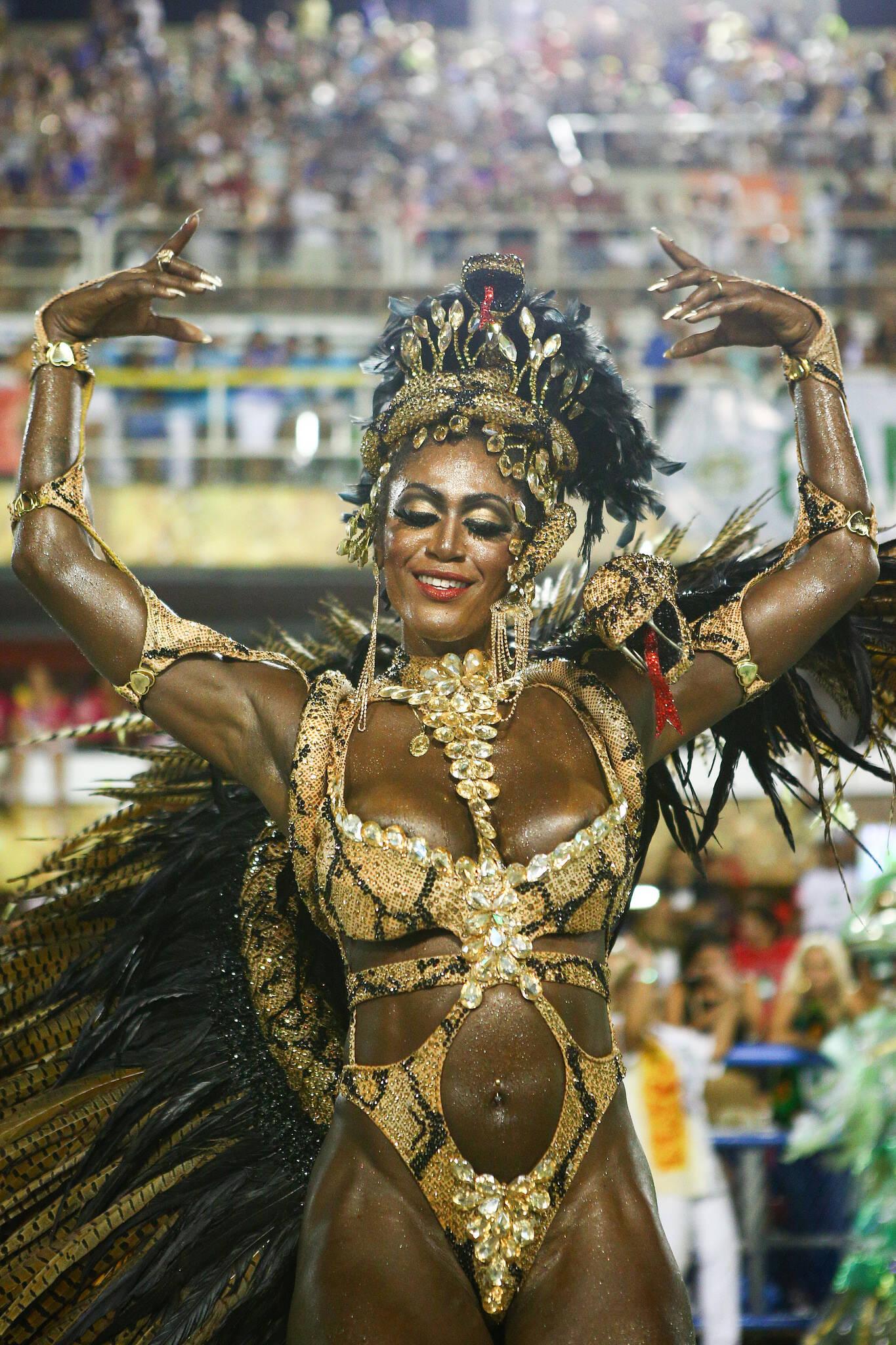Destaque da Imperatriz Leopoldinense. Foto: Riotur/divulgação