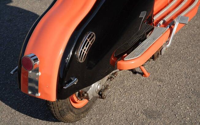 Traseira da Lambretta LD 1958. Foto: Acervo Pessoal / Gabriel Marazzi