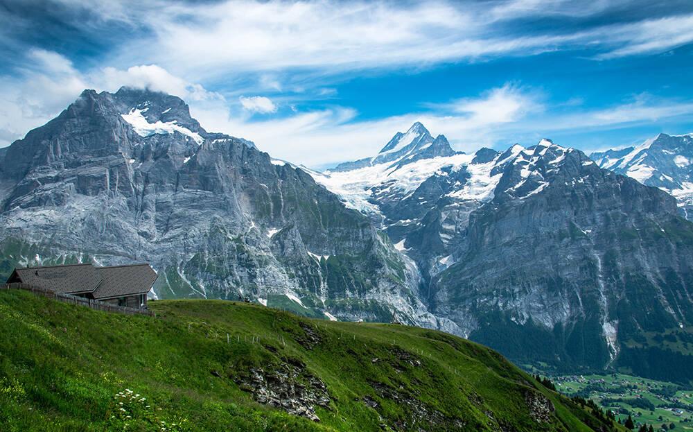 As montanhas de Grindewald, na Suíça. Foto: Christopher Becke/Pexels