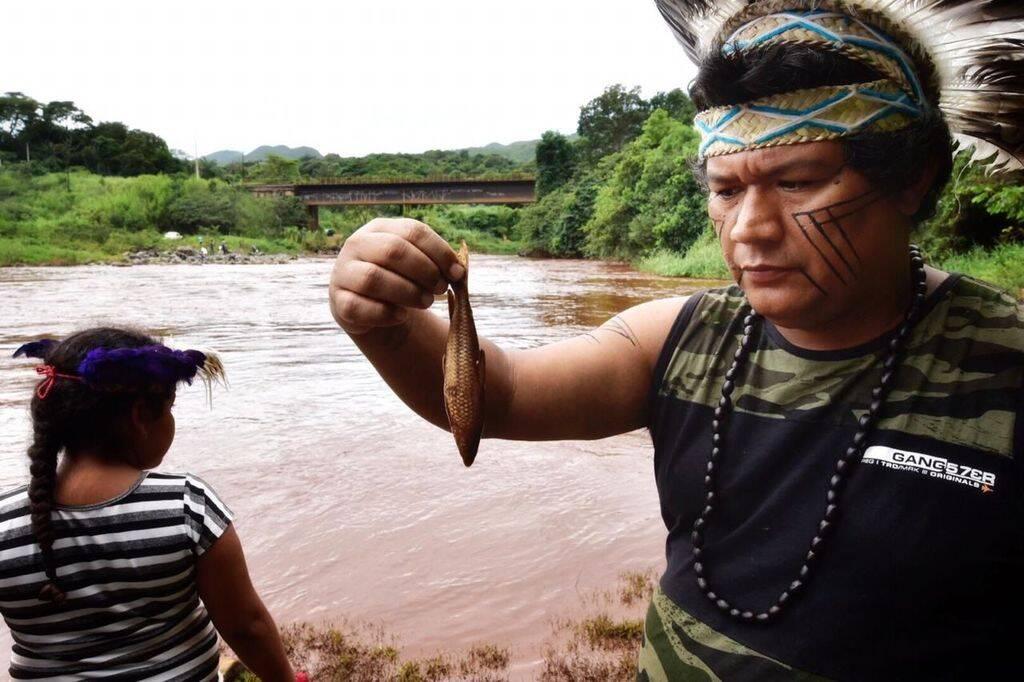 Indígenas Pataxó Hã-hã-hãe vivem na aldeia Naõ Xohã, às margens do rio Paropeba. Foto: Lucas Hallel Ascom/Funai