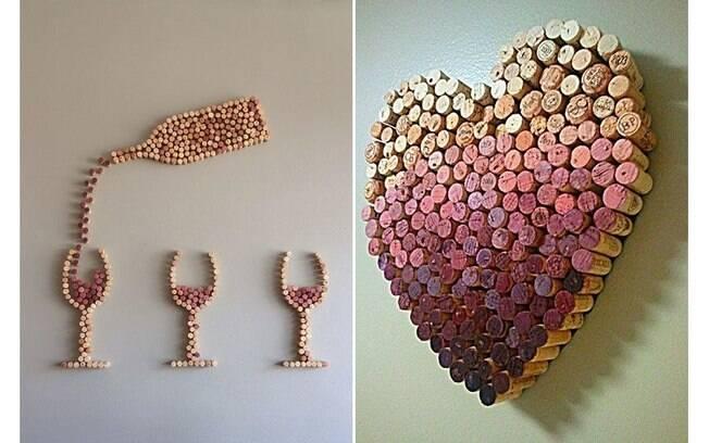 Se você é amante de vinho ou coleciona rolhas, saiba que esse material também pode fazer parte da decoração . Foto: Reprodução/Pinterest
