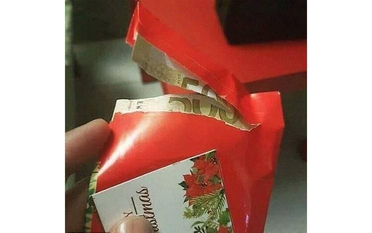Ganhar dinheiro é muito bom, mas é preciso cuidado ao abrir o presente. Foto: Reprodução/Instagram/Reddit