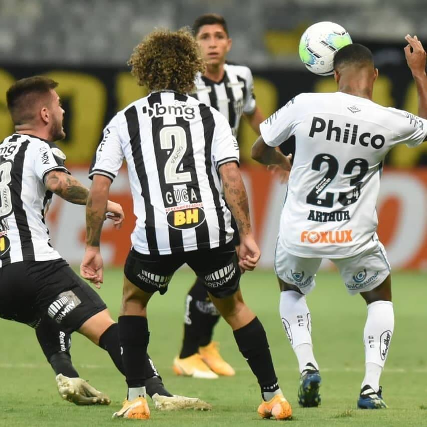 Atlético-MG x Santos. Foto: Ivan Storti / Santos