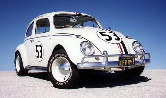 Volkswagen Fusca (Herbie). Foto: Divulgação