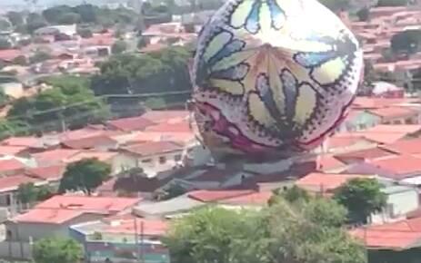 A equipe da Polícia Militar Ambiental prendeu seis suspeitos na manhã deste domingo em Campinas. Foto: Reprodução/TV Globo