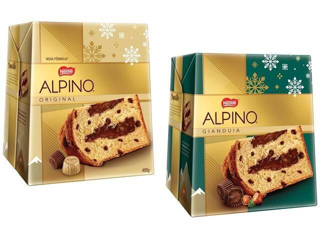 Panettone Alpino da Nestlé - 400g (R$ 24,99). Foto: Divulgação