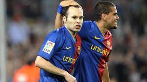 Dani e Iniesta. Foto: Reprodução