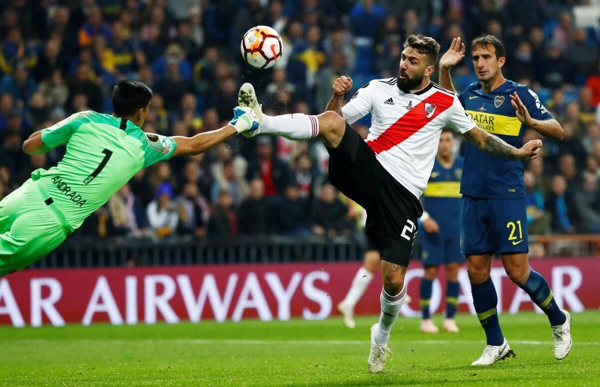 Final da Libertadores entre River Plate e Boca Juniors, na Espanha. Foto: Twitter/Reprodução