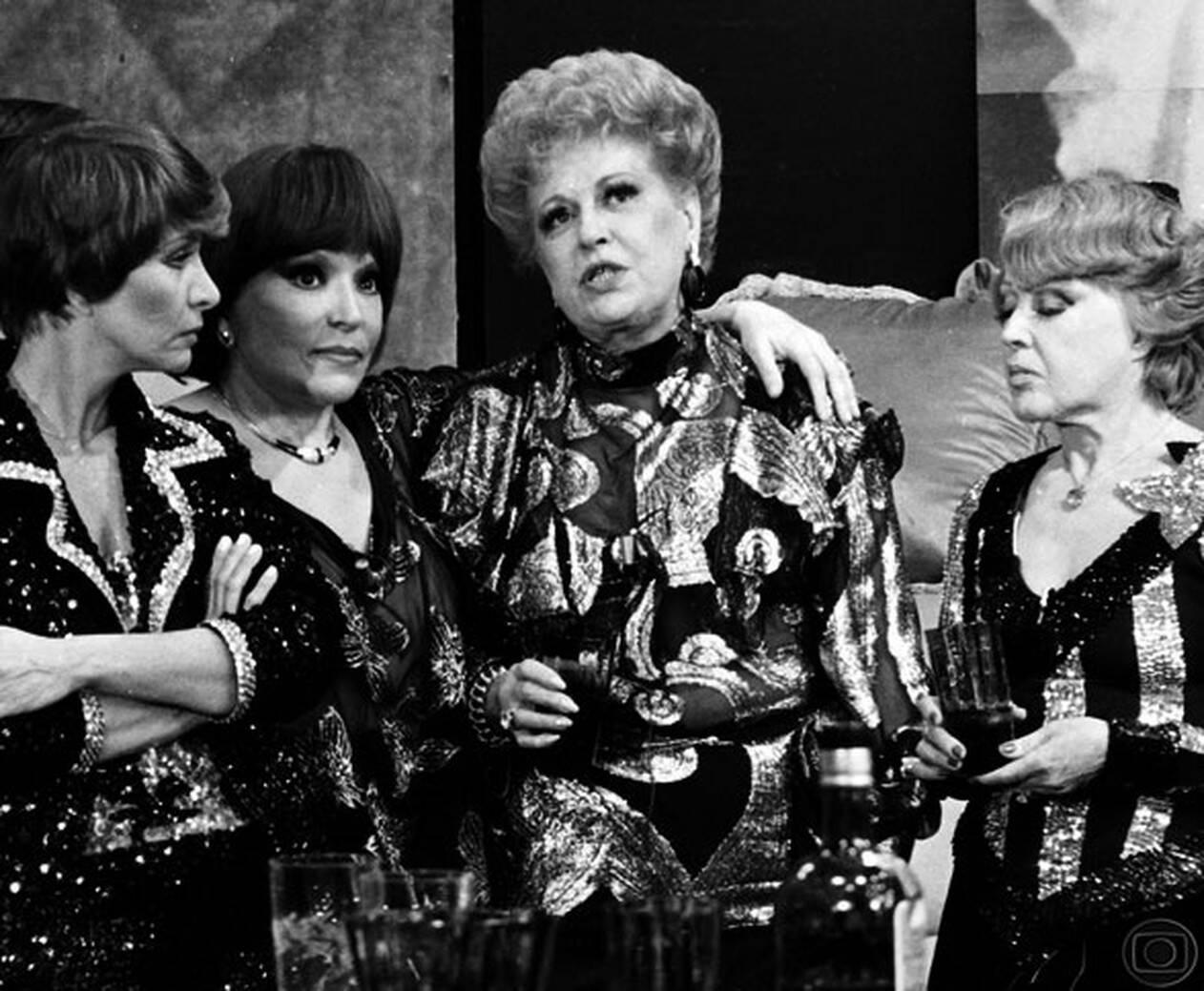 Nélia Paula, Bibi Ferreira, Mara Rúbia e Virgínia Lane em 'Brasil 78. Foto: Reprodução/ TV Globo