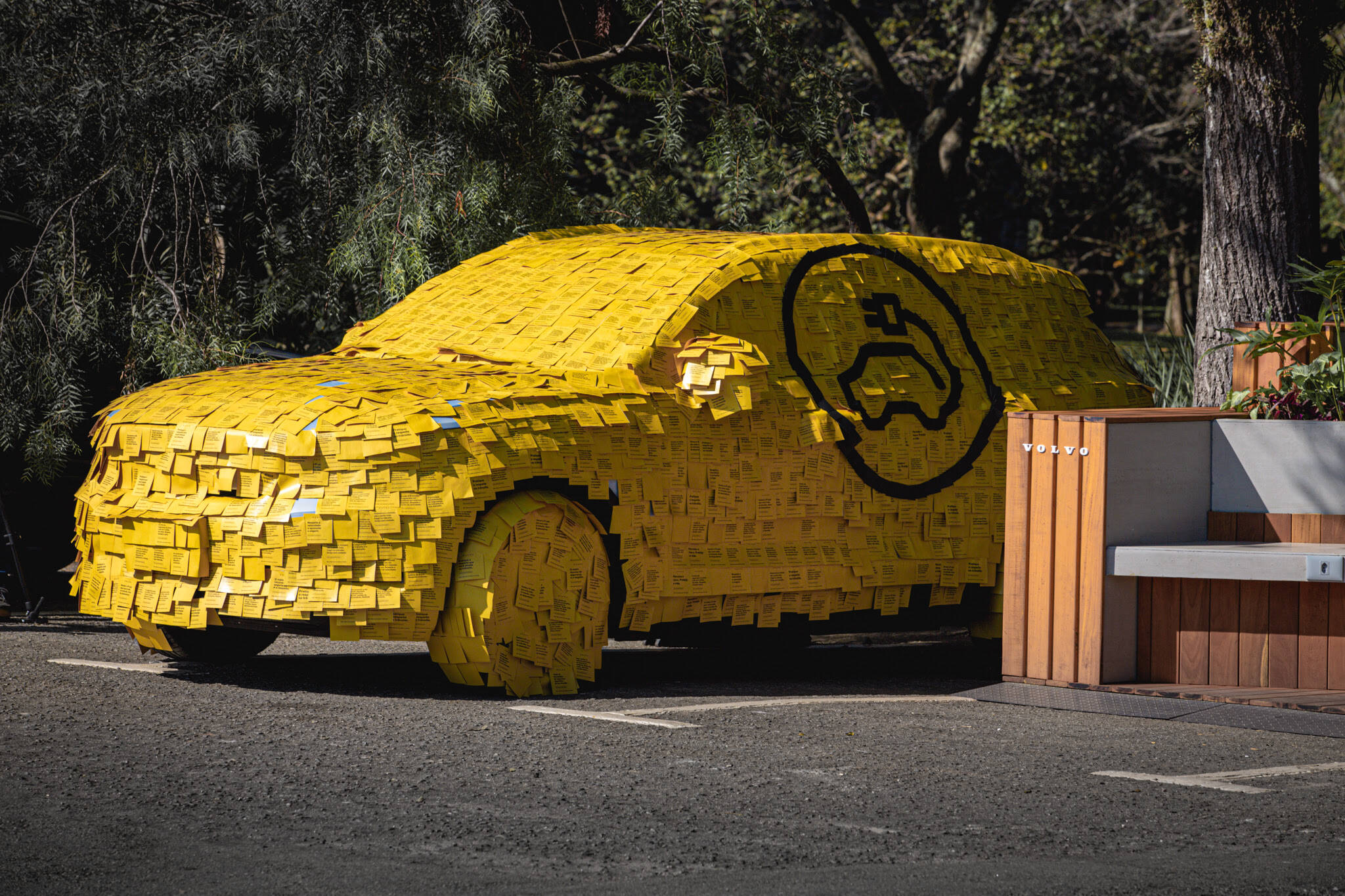 SUV ficará exposto por 12 meses no Parque Ibirapuera (Maio/21 à Maio/22).. Foto: Divulgação