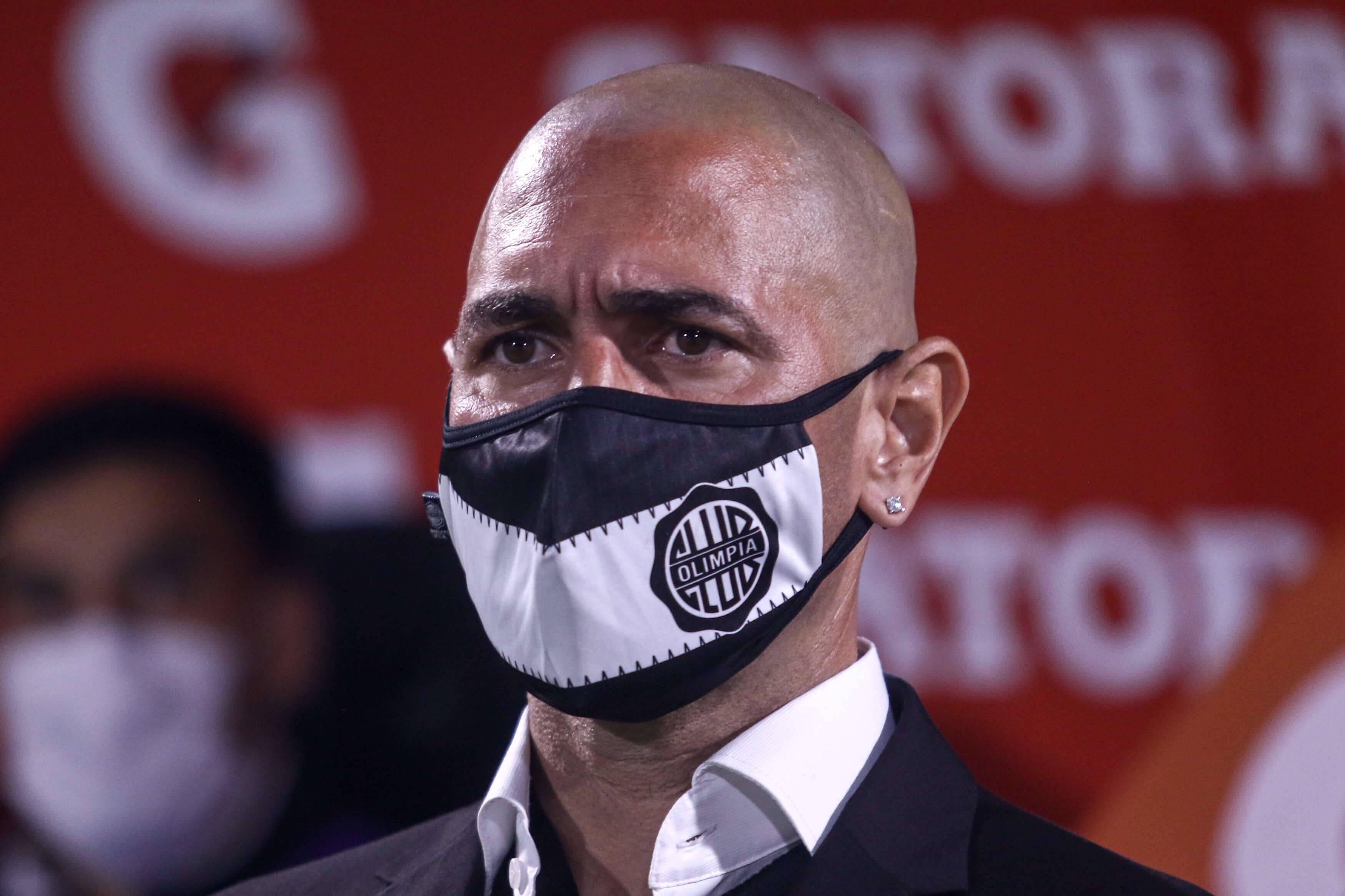 Olimpia x Inter. Foto: Reprodução / Twitter Conmebol
