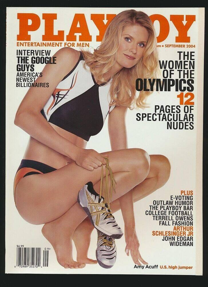 Capa da Playboy - Amy Acuff, do atletismo norte-americano. Foto: Divulgação / Revista Playboy