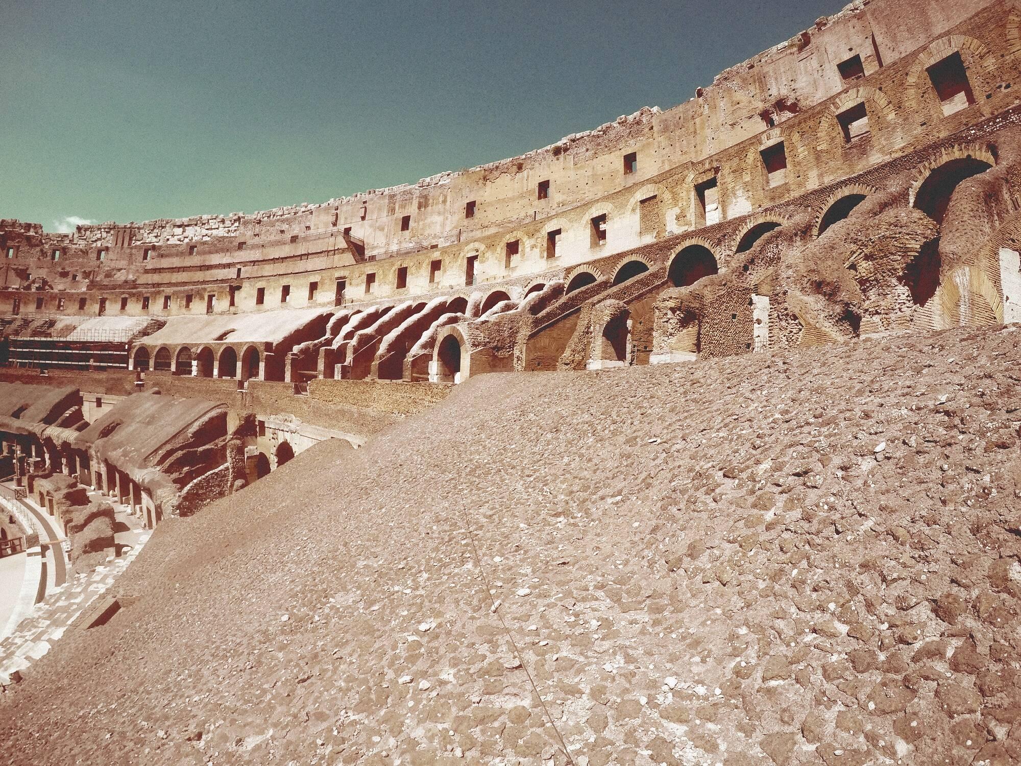 Local onde ficavam as arquibancadas do Coliseu. Foto: Derich/Freepik
