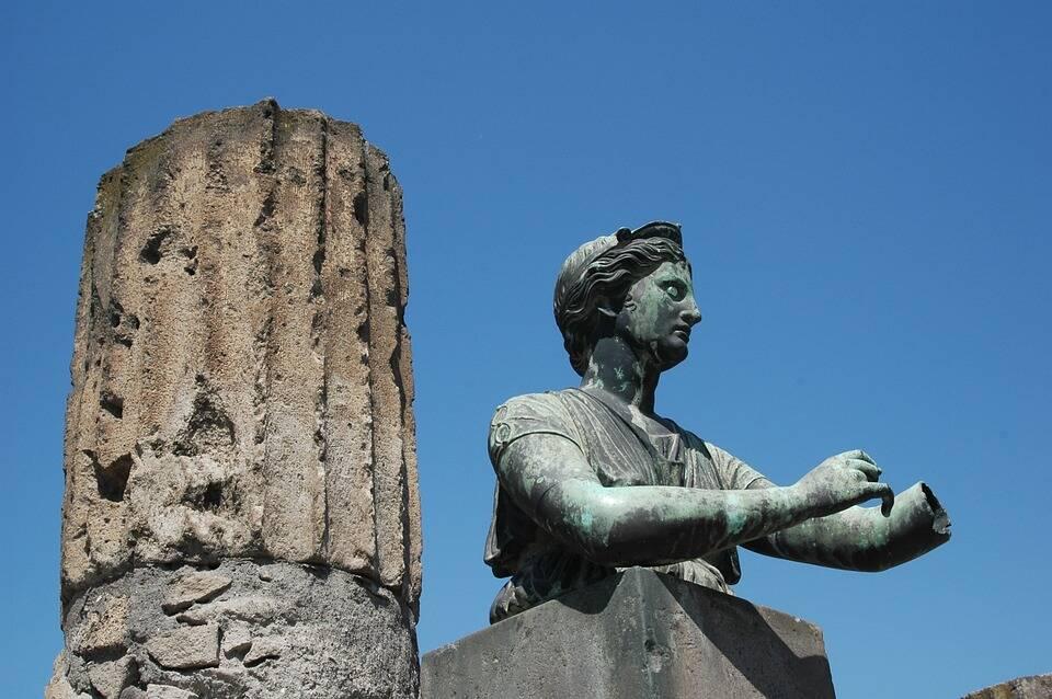 As ruínas de Pompeia são ricas em história . Foto: Pixabay