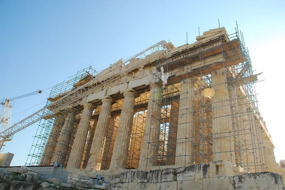 Partenon está em processo de restauração há mais de três décadas. Foto: Pixabay