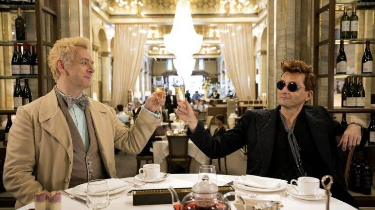 1 de 4 Good omens (Amazon) O fim da humanidade por um demônio (Michael Sheen) e um anticristo imberbe (David Tennant) 6 episódios . Foto: Divulgação