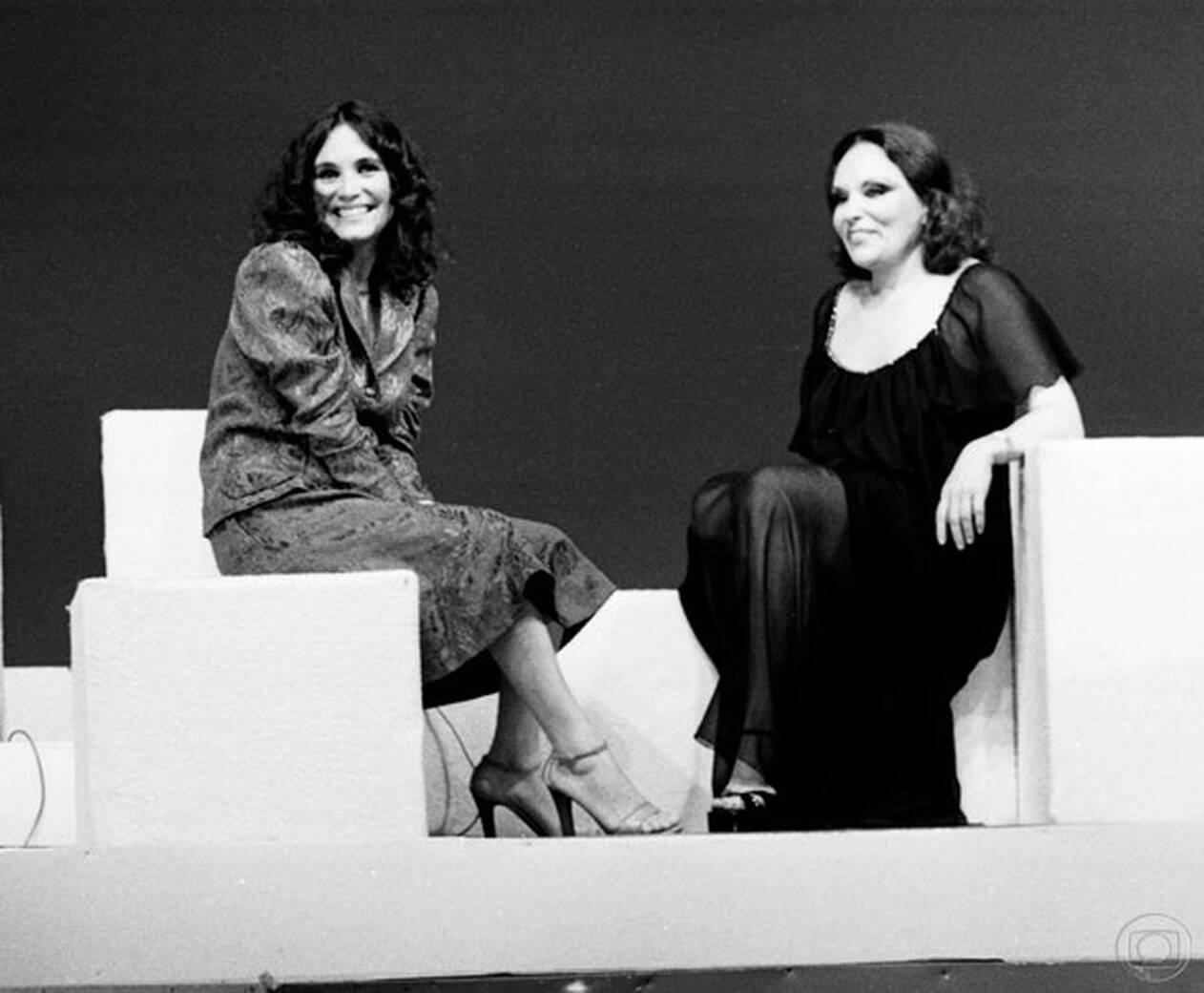 Regina Duarte e Bibi Ferreira em 'Brasil 79. Foto: Reprodução/ TV Globo