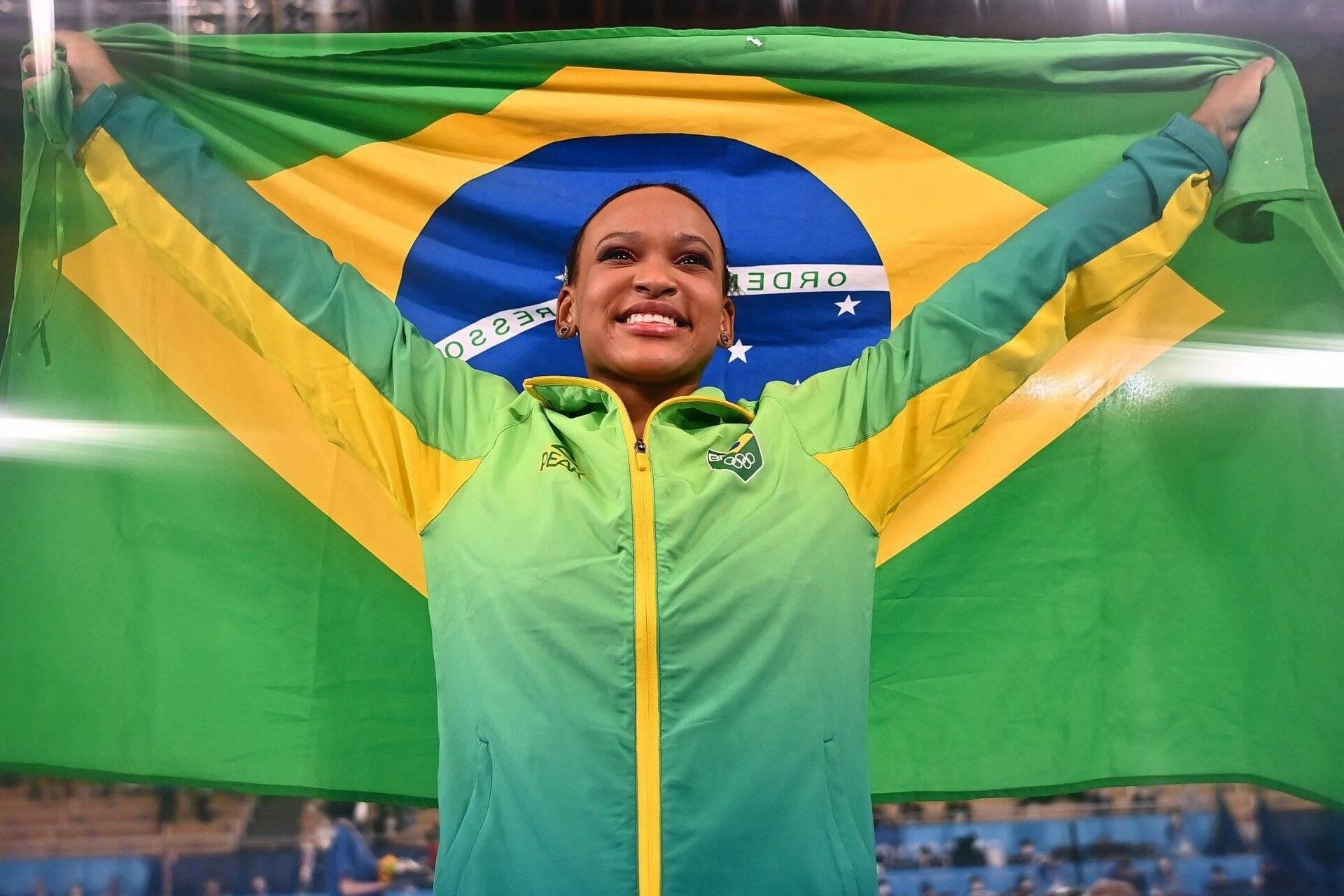 1 - Rebeca Andrade (Ouro e Prata ginástica) - 836%. Foto: redacao@odia.com.br (O Dia)