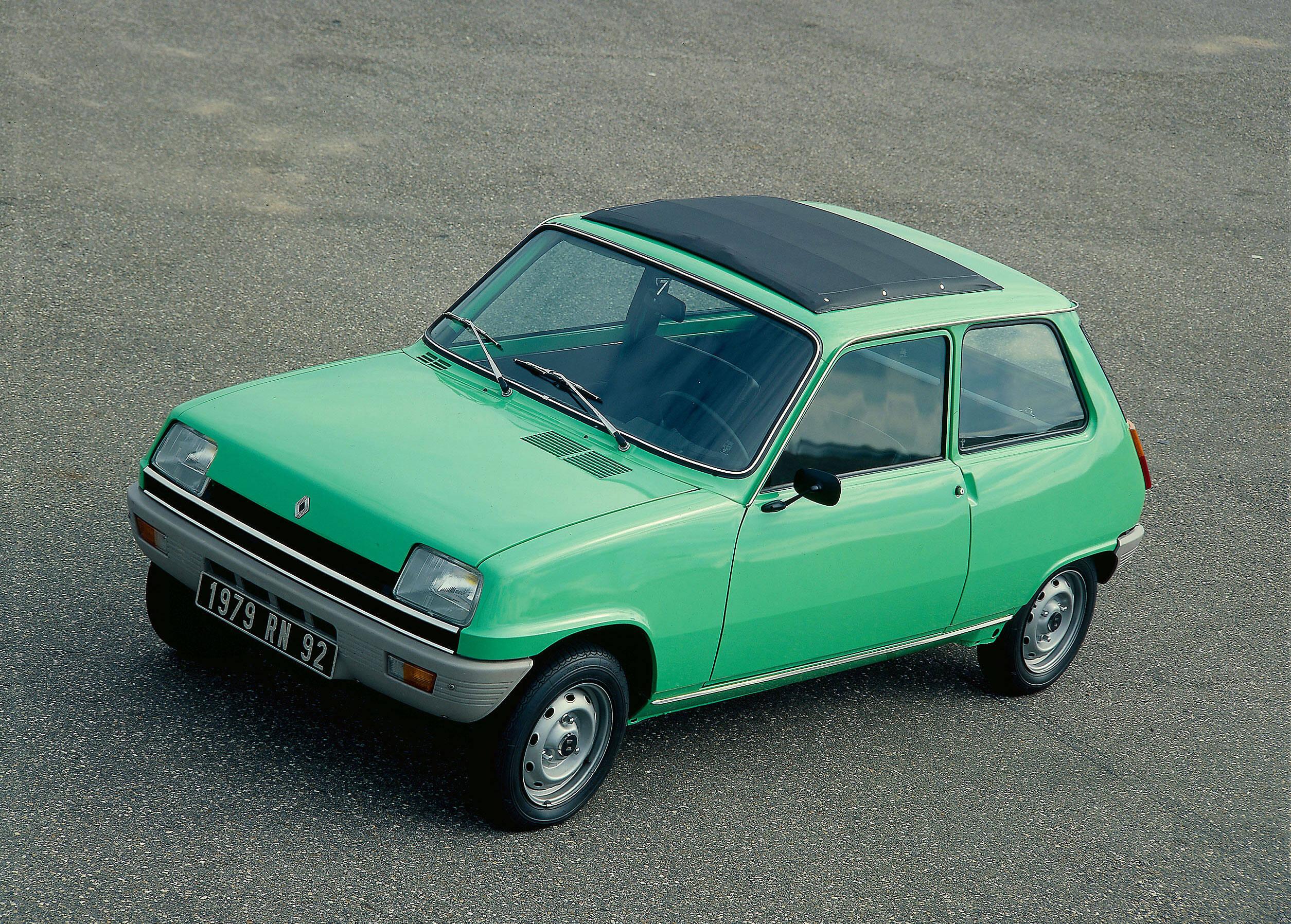 O Renault 5 original dos anos 1970. Foto: Divulgação