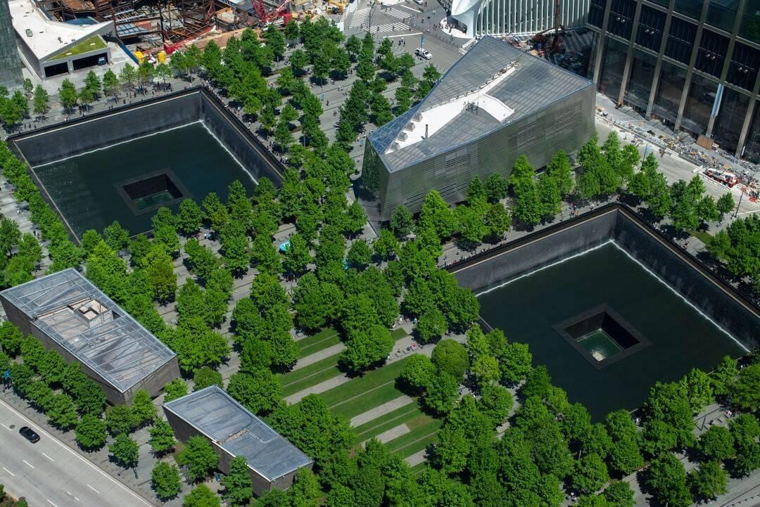 Memorial em homenagem às vítimas dos atentados de 11 de setembro. Foto: Reprodução/Instagram
