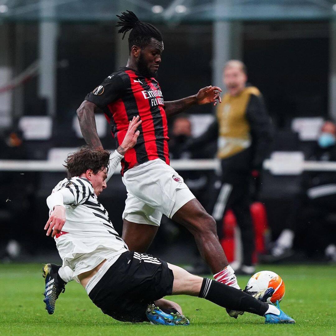 Milan x Manchester United. Foto: Reprodução / Instagram
