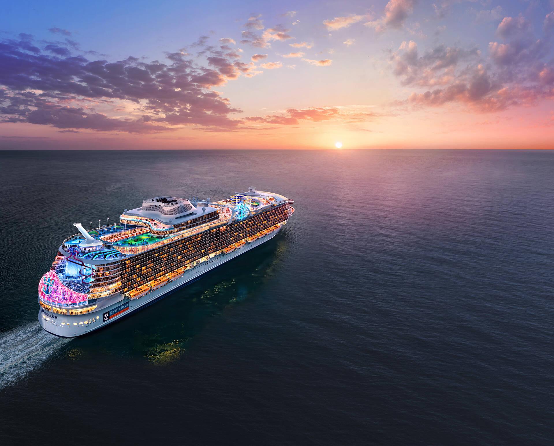 Caibe dupla interna do Wonder Of The Seas custa R$6.655 por pessoa. Foto: Divulgação/Royal Caribbean International