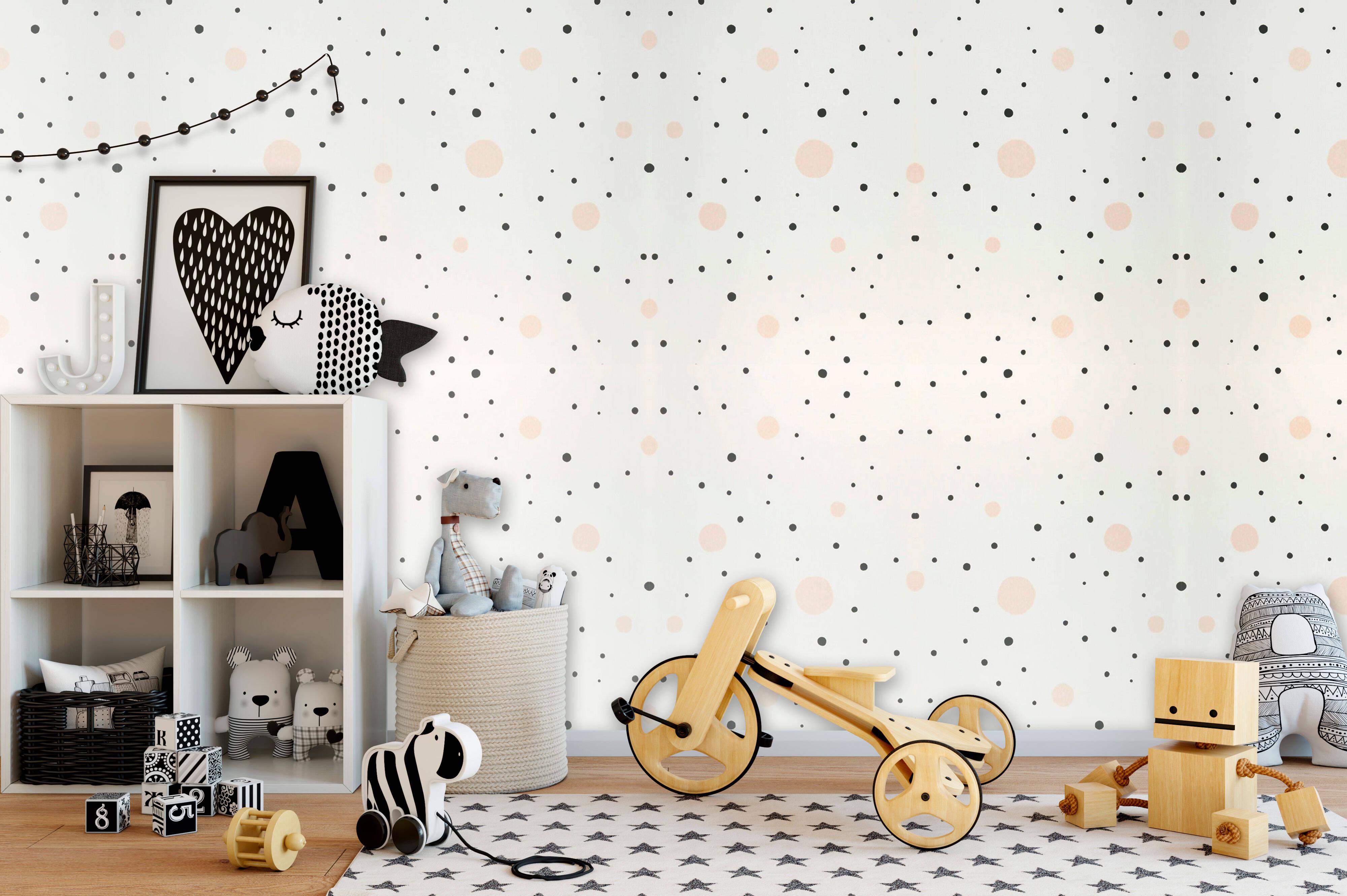 """O papel de parede Confetti exala confiança e não """"enjoa"""". Foto: Papel de Parede dos Anos 70"""