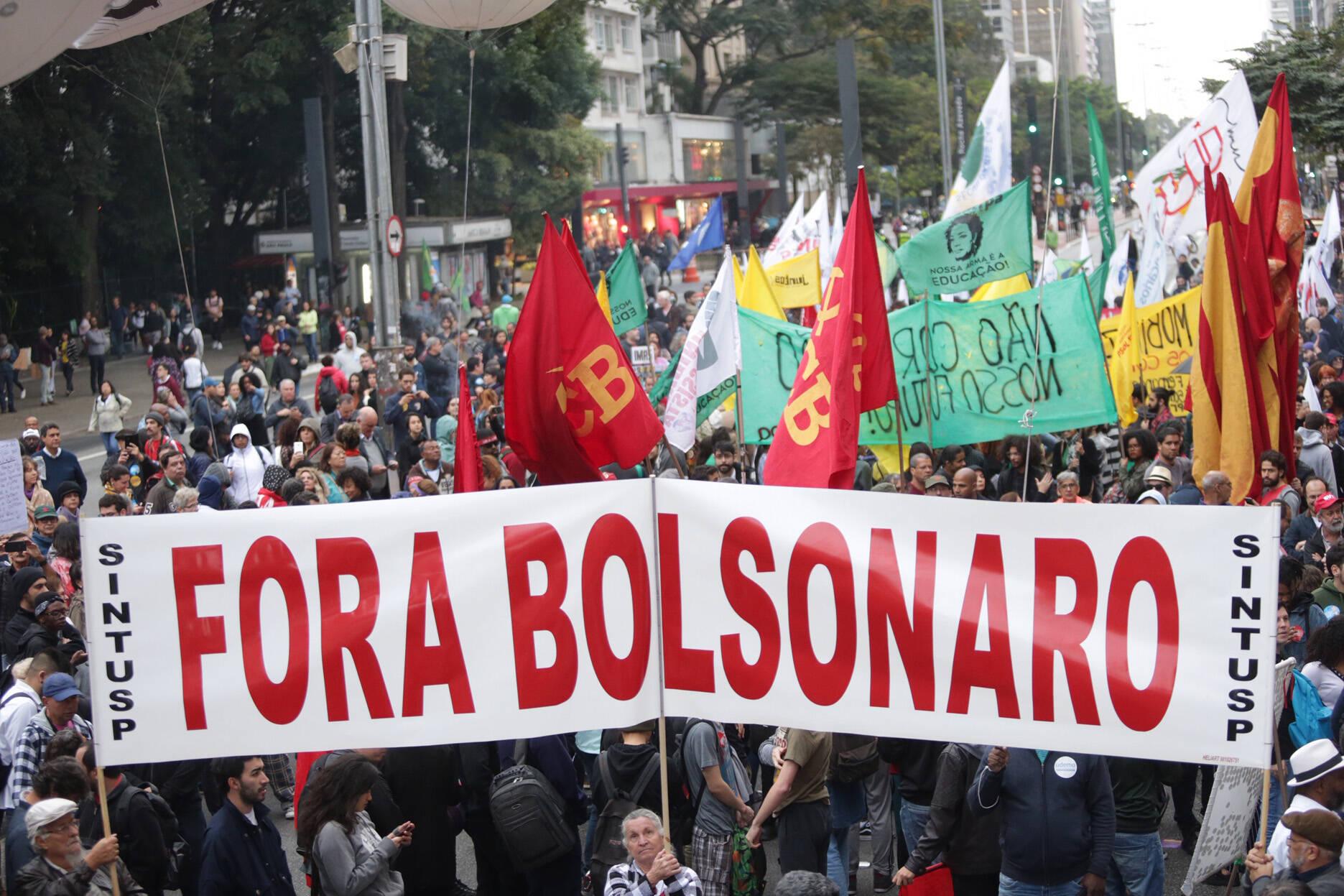 Manifestantes na avenida Paulista, em São Paulo. Foto: Paulo Pinto/Fotos Publicas - 13.8.19