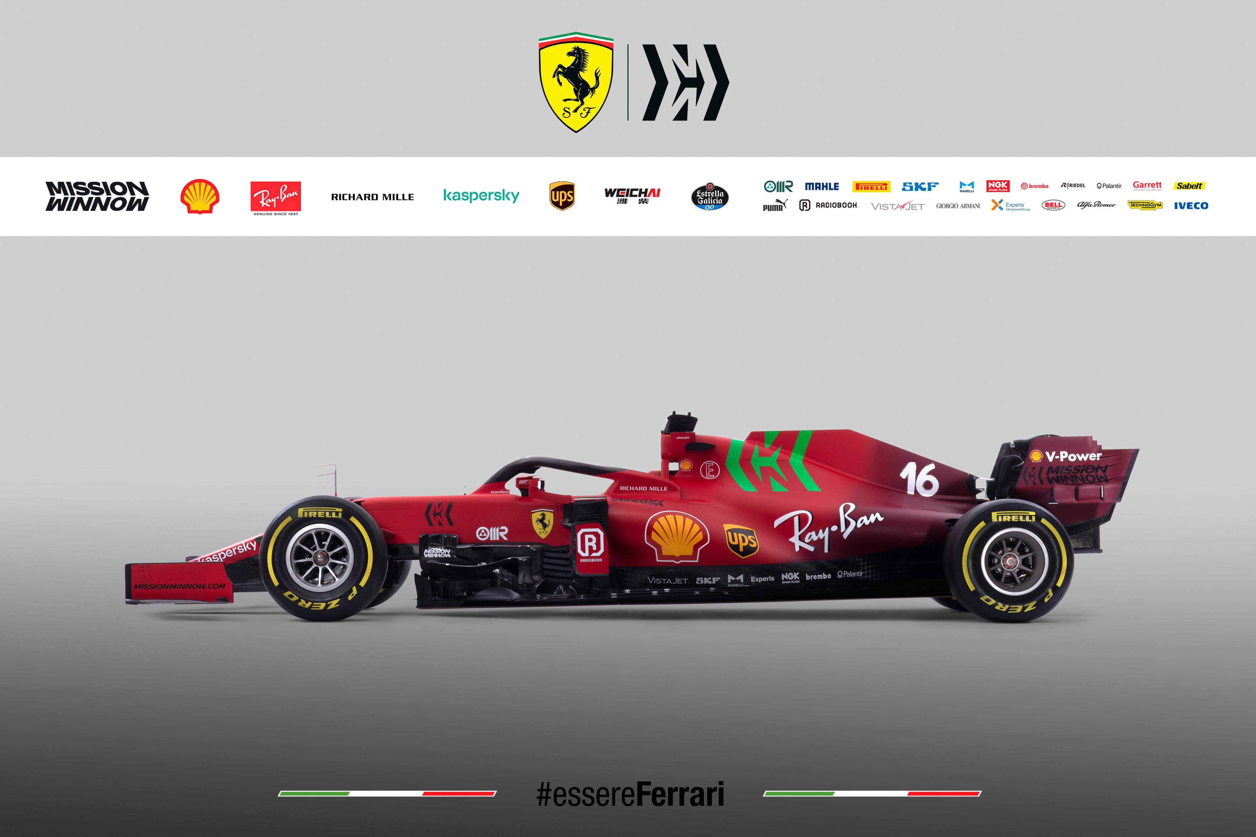 Ferrari 2021. Foto: reprodução / Twitter
