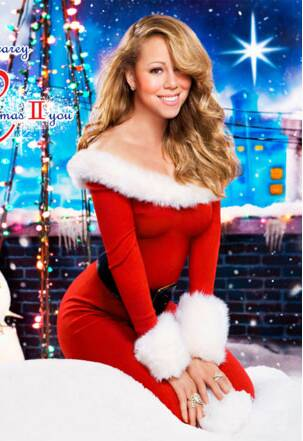 Famosas de Mamãe Noel! A cantora Mariah Carey é uma das musas natalinas . Foto: Divulgação