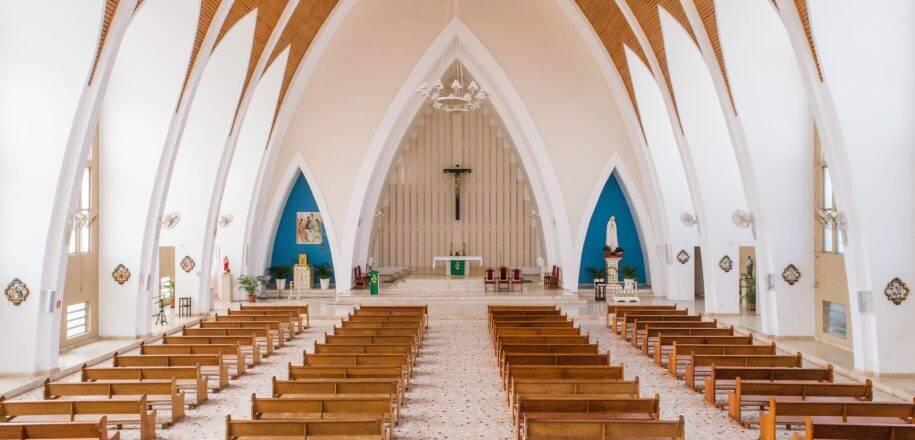 Interior do Santuário de Nossa Senhora de Fátima . Foto: Reprodução