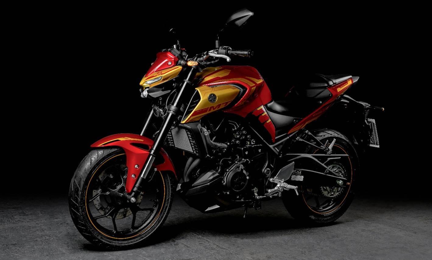 Yamaha MT-03 Homem de Ferro. Foto: Divulgação