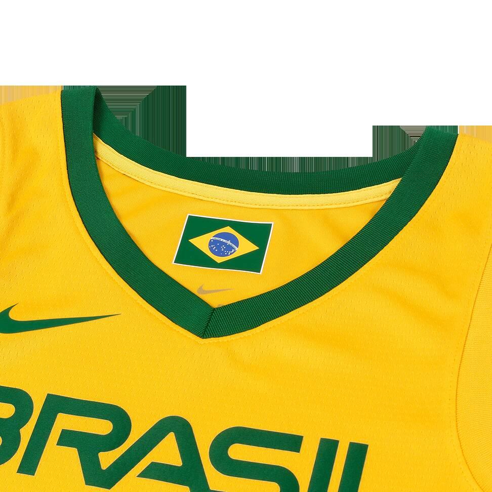 Nova camisa amarela da seleção brasileira de basquete / 2019. Foto: Divulgação/Nike