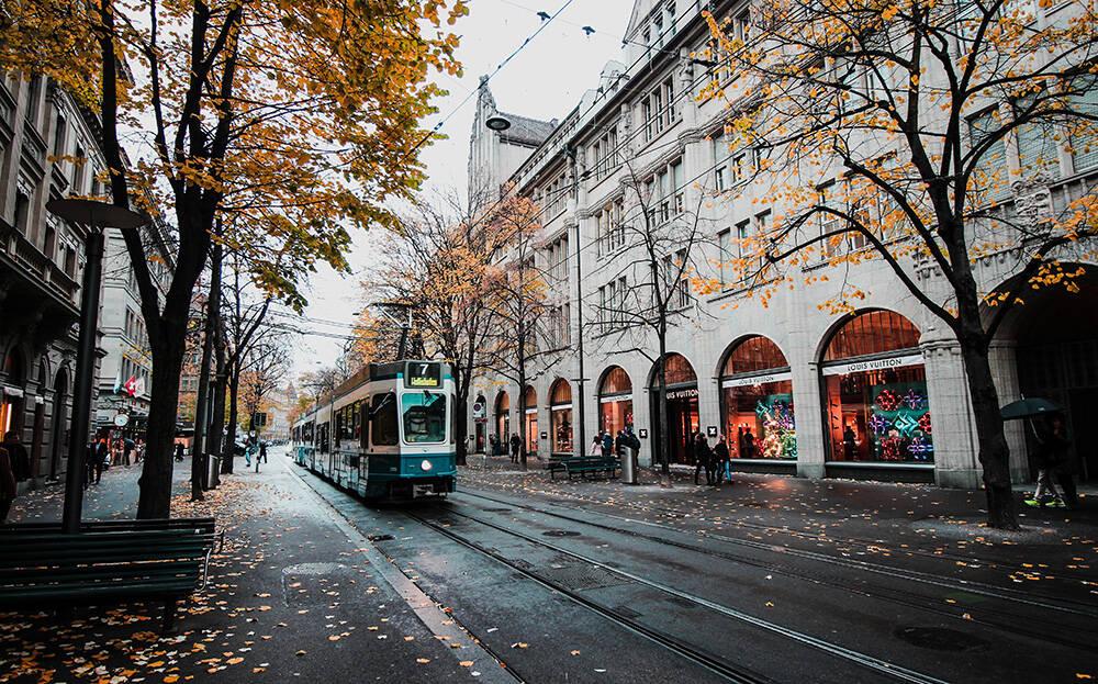 Zurique, capital da Suíça. Foto: H. Emre/Pexels