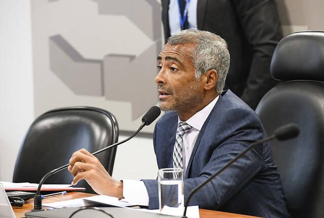 Romário. Foto: Agência Senado