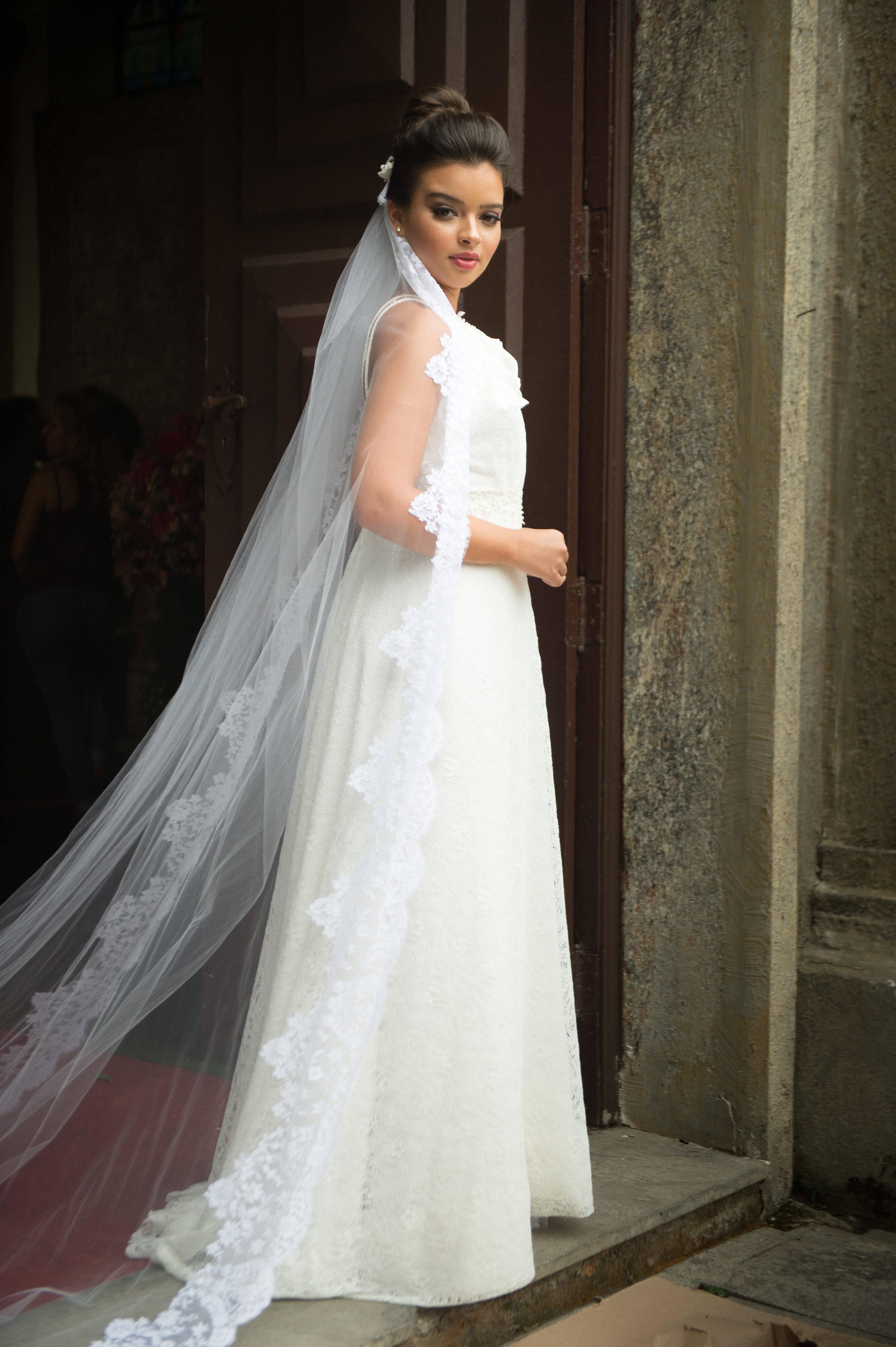 Melissa (Gabriela Mustafá) no casamento com Diego (Arthur Aguiar). Foto: Divulgação/TV Globo