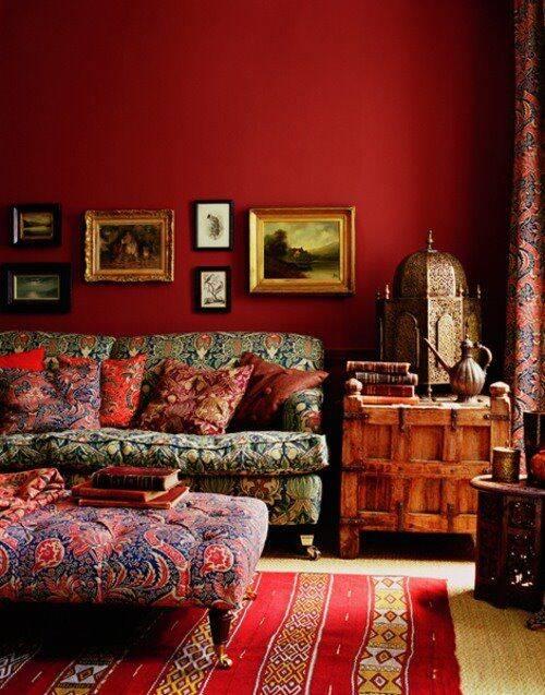 O vermelho é uma cor dinâmica por ser vibrante e ousado. Foto: Pinterest/Jenny Ennvy