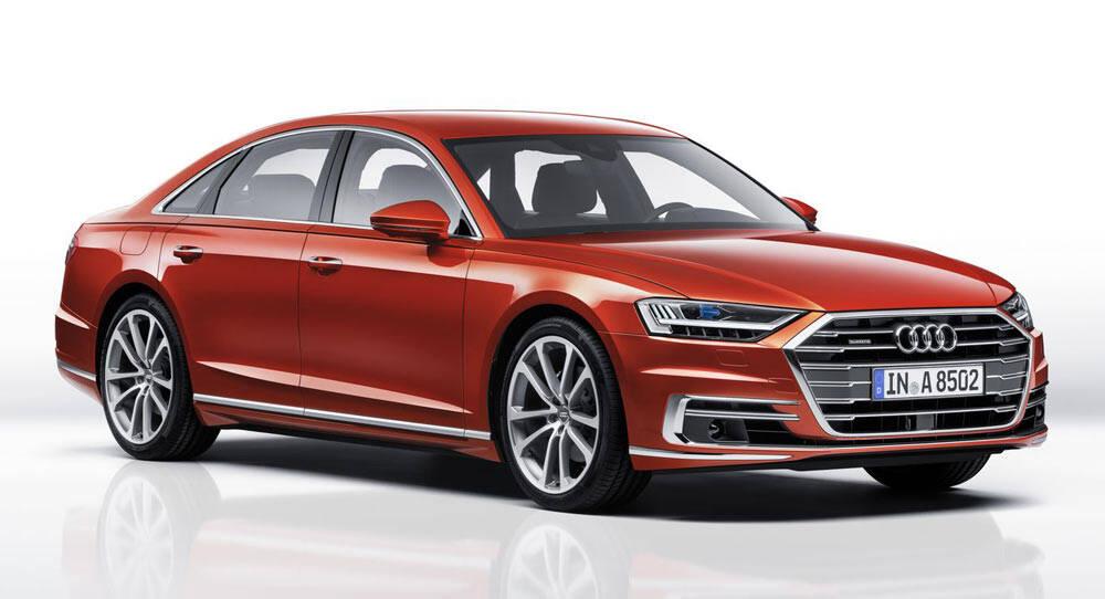 Audi A8: O alemão também é vendido aqui e, assim como o BMW Série 5, conta com um refinado pacote tecnológico semi-autônomo, que eleva o nível da viagem a um novo patamar. Foto: Divulgação