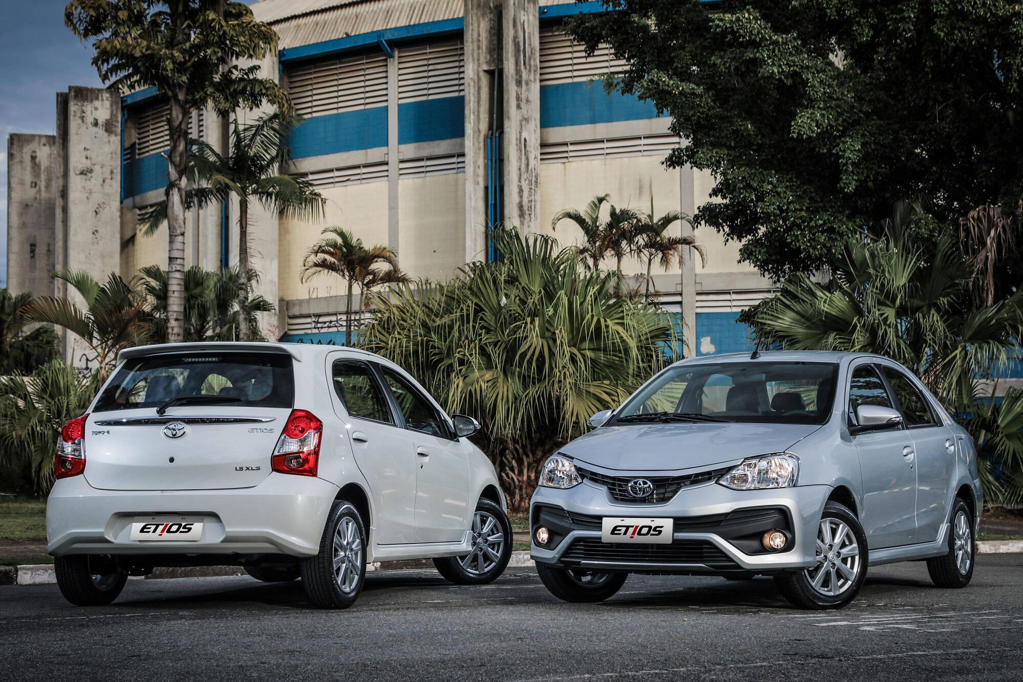 Toyota Etios 2018. Foto: Divugalção/Toyota