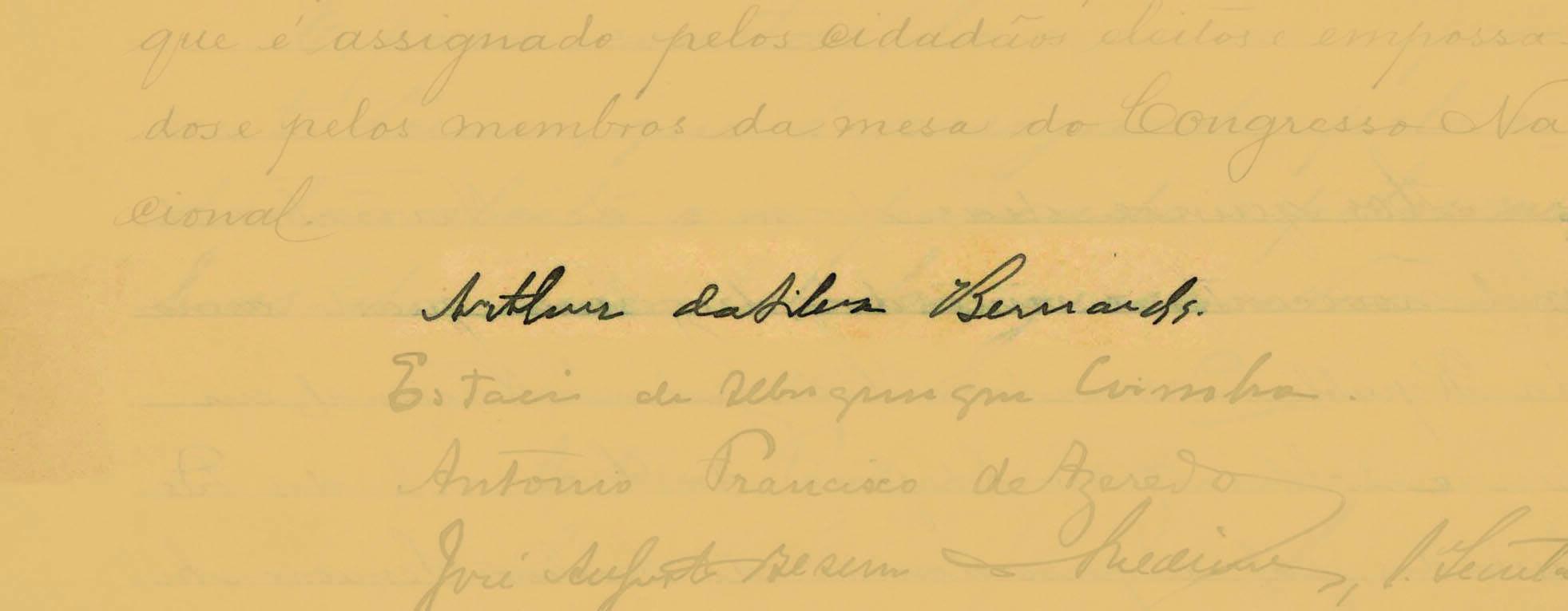 Arthur Bernardes assumiu a presidência em 15 de novembro de 1922. Foto: Reprodução / Senado Federal