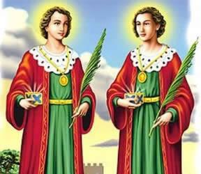 Os gêmeos São Cosme e Damião. Foto: Reprodução