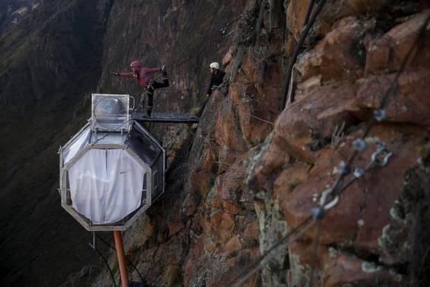 O hotel atrai amantes de montanhismo e amantes da natureza; ou só por quem quer viver a experiência. Foto: Reprodução/TripAdvisor