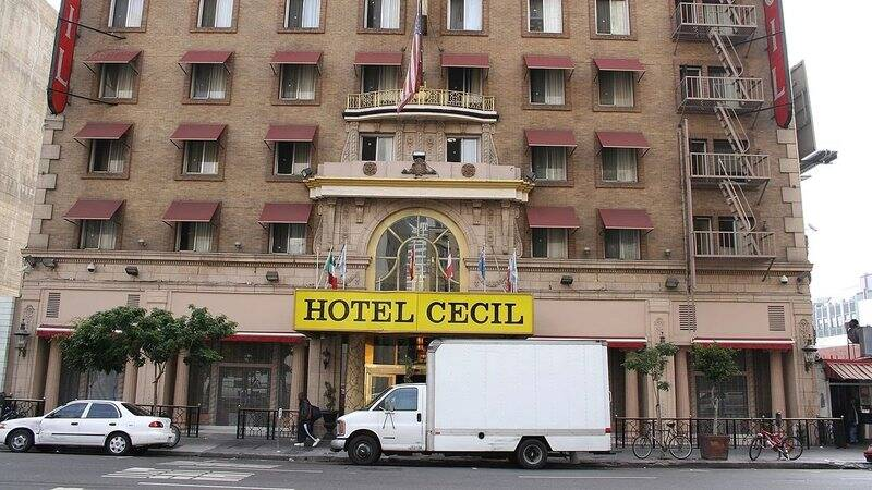 Cecil Hotel, em Los Angeles. Foto: Wikipedia Commons