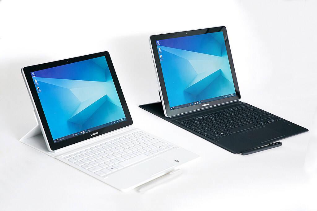 Samsung apresentou duas versões para os tablets Galaxy Book: 10,6 polegadas e 12 polegadas. Foto: Divulgação