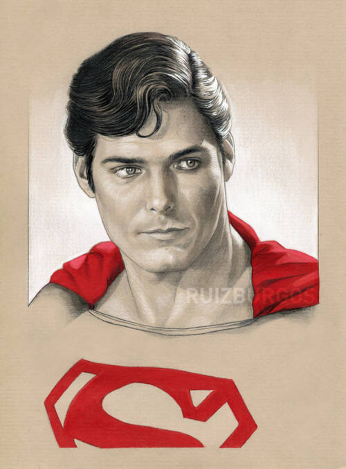 Super Man (Christopher Reeve). Foto: Reprodução/Coolpopsart