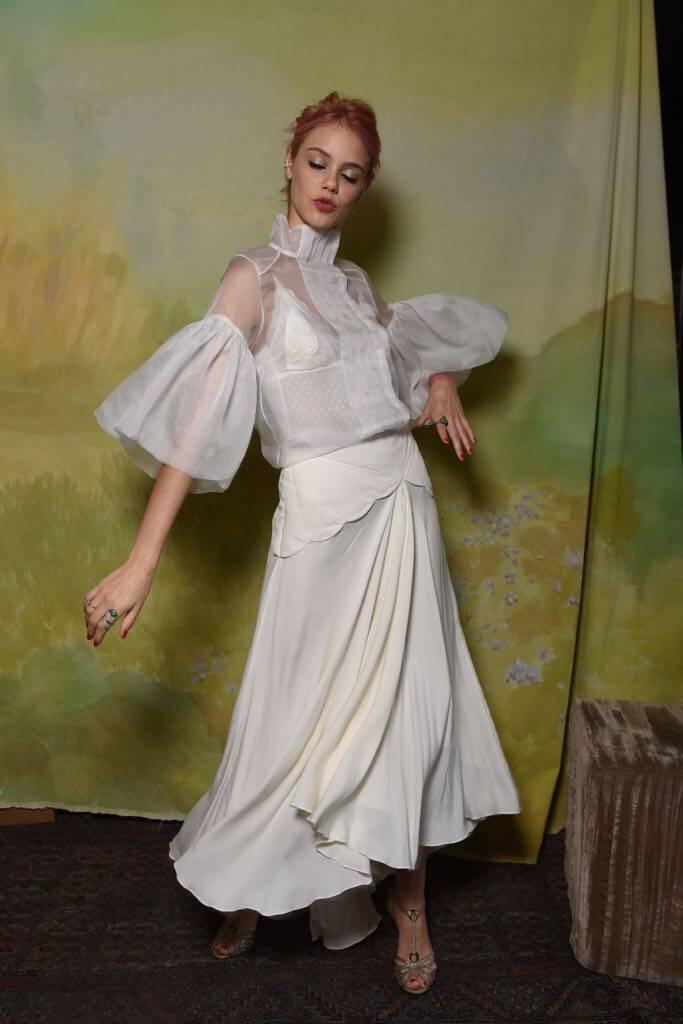 Laura Neiva no lançamento da Vogue Noiva. Foto: Divulgação