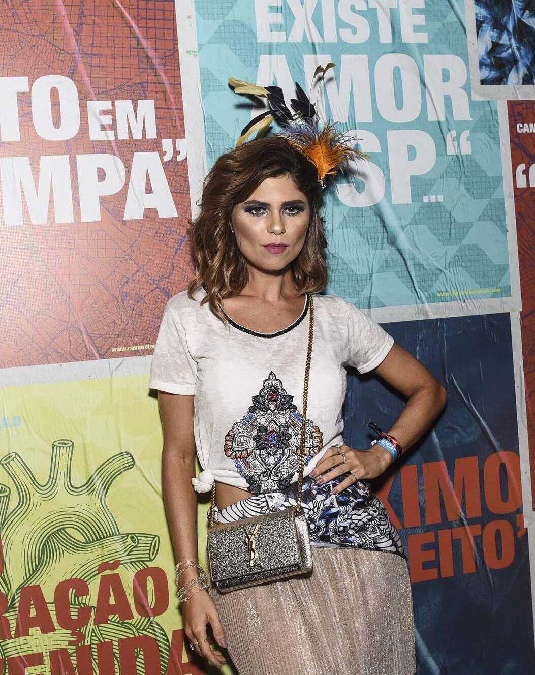 Julianne Trevisol no Camarote São Paulo no Anhembi na sexta (09). Foto: Lu Prezia