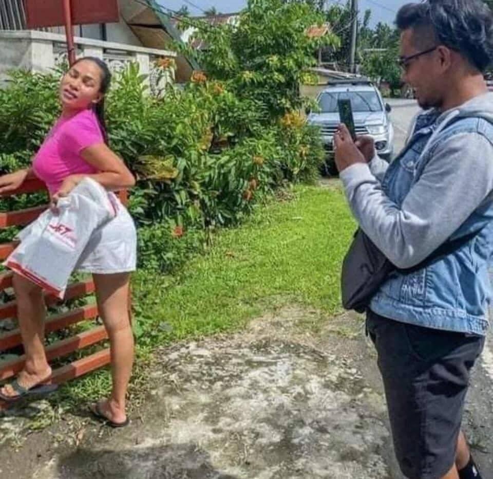 Filipina posando. Foto: Reprodução