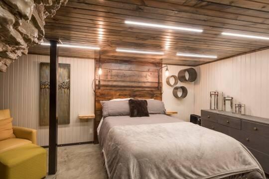 São quatro quartos totalmente equipados no Cave Lodge. Foto: Jam Press/Beckham Creek Cave Lodge
